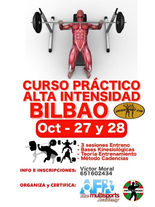 Curso AFD Práctico Alta Intensidad Entreno Bilbao Oct 2018