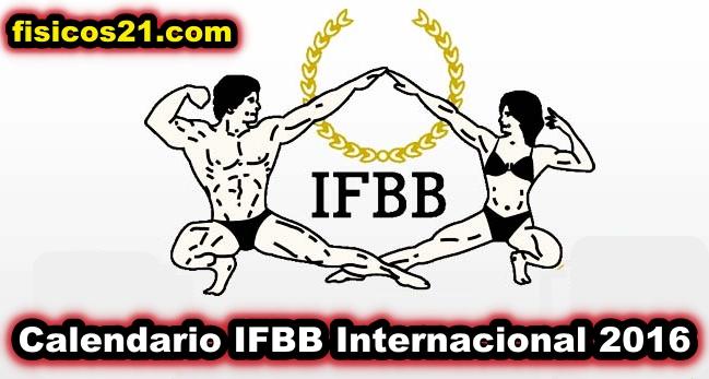 Calendario IFBB Internacional 2016