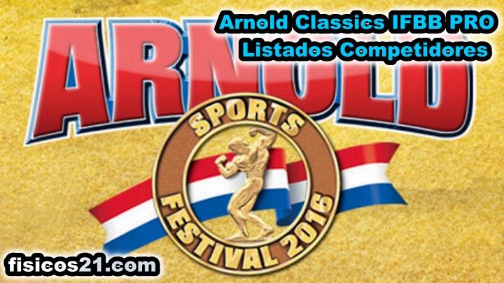 Arnold Classics IFBB PRO 2016 Listados
