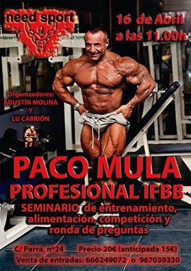 Seminario Paco Mula IFBB PRO en Albacete