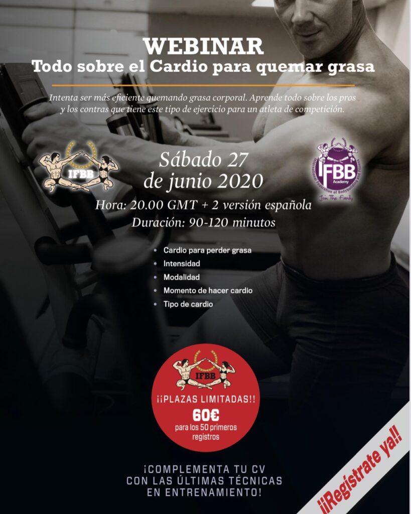 IFBB Webinar sobre el Cardio en la etapa de PRE-Competición