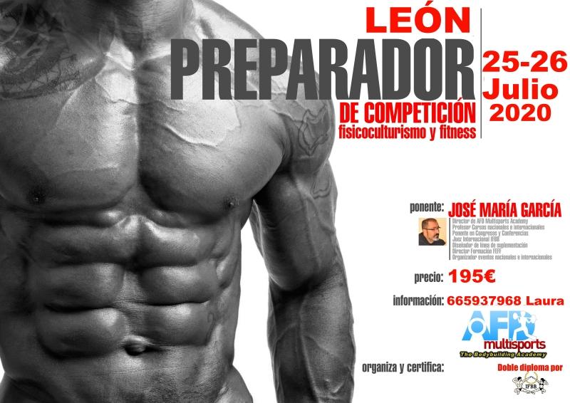 Curso AFD Preparador Competición Culturismo y Fitness LEON jul 2020