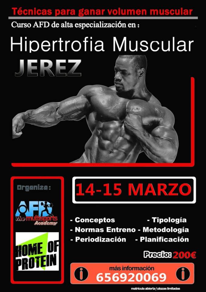 Curso AFD Hipertrofia Muscular en Jérez de la Frontera (Cádiz)
