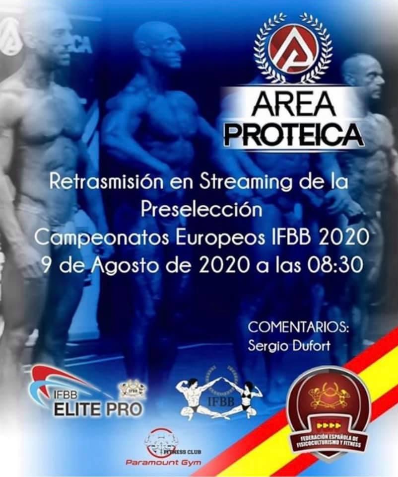 Preselección España para Ctos Europa IFBB 2020, Retransmisión en vivo