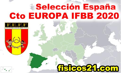 Selección España para los Ctos Europa 2020 IFBB