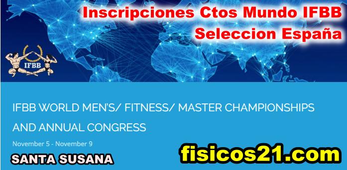 Inscripciones a los Ctos MUNDO IFBB 2020 - selección España