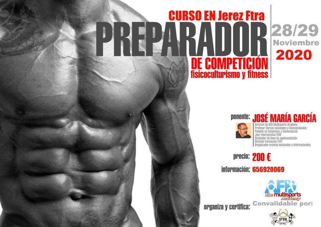 Curso AFD Preparador Competición Culturismo y Fitness Jerez de la Frontera 2020 Noviembre