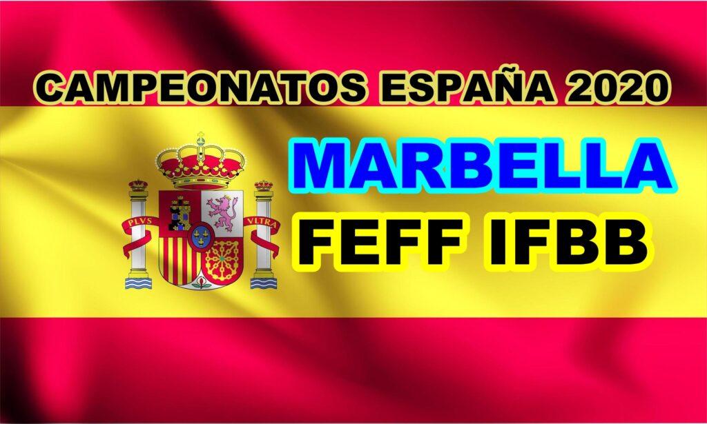 Cto España IFBB FEFF 2020 - Listados Provisionales; 278 Atletas!!