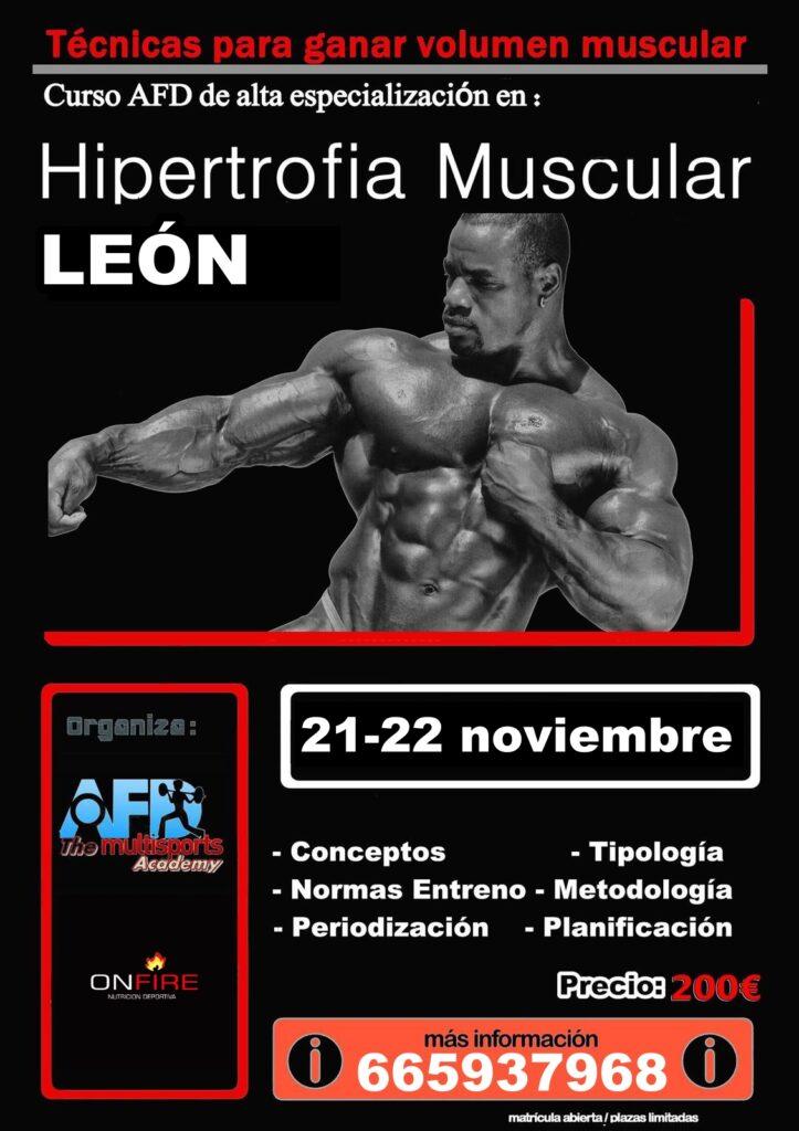 Curso AFD Hipertrofia muscular en León nov 2020
