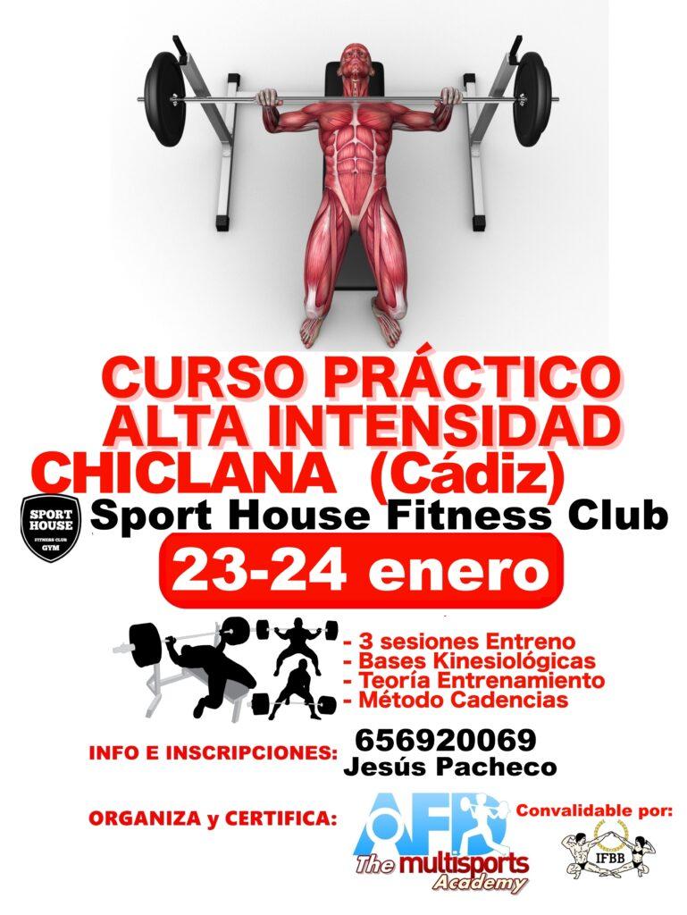 Curso Entreno Alta Intensidad Chiclana de la Frontera (Cádiz) enero 2021