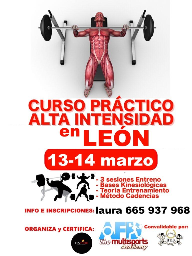 Curso AFD Entrenamiento Alta Intensidad León marzo 2021