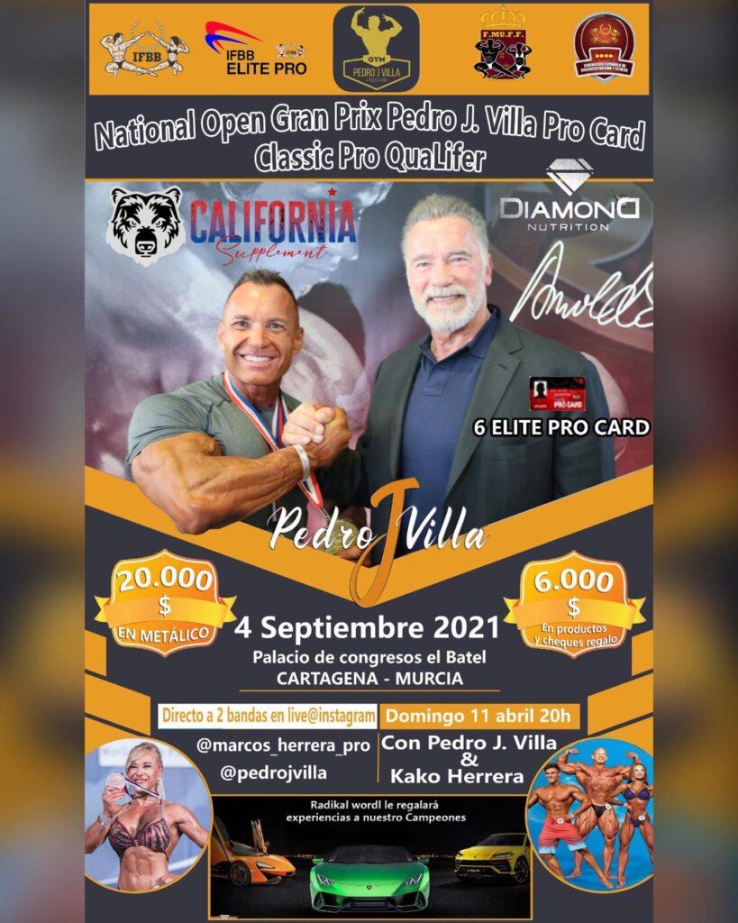 Open Nacional Pedro J Villa: 20.000 $ y 6 carnets IFBB PRO Elite