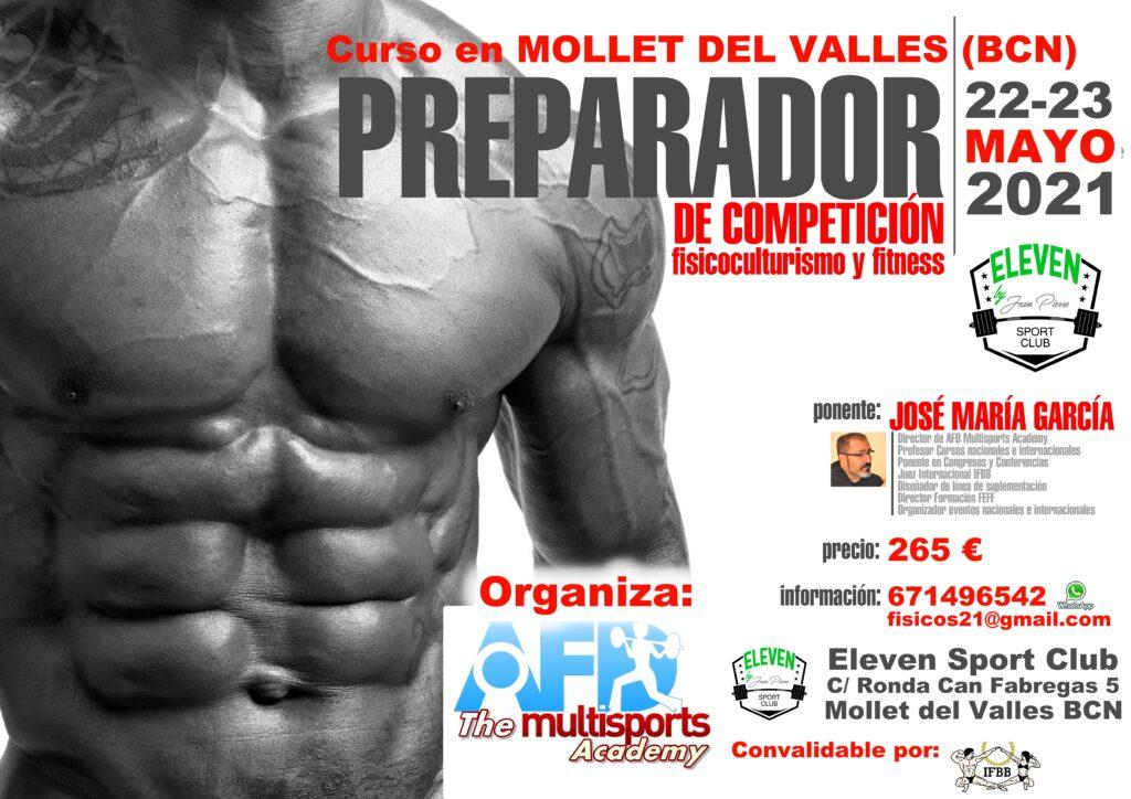Curso AFD Preparador de Competición de Culturismo/Fitness en Mollet del Vallés (Barcelona) mayo 2021