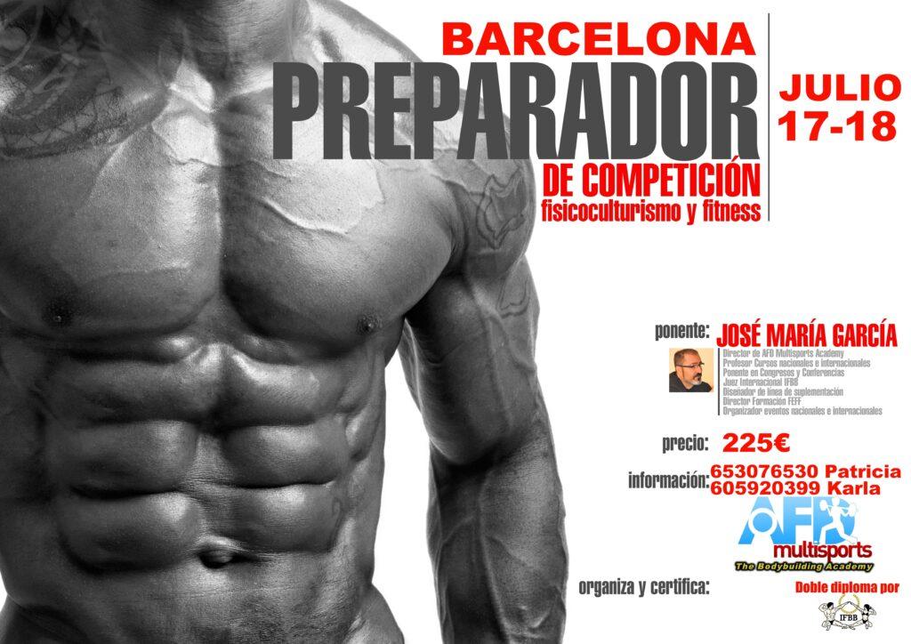 Curso AFD Preparador de Competición de Culturismo/Fitness en Barcelona julio 2021